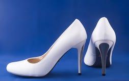 Sapatas brancas Imagem de Stock