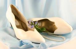 Sapatas brancas Fotos de Stock Royalty Free