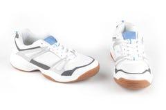 Sapatas brancas do esporte Imagem de Stock