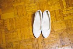 Sapatas brancas lisas Imagem de Stock Royalty Free