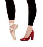 Sapatas clássicas do ballett ou da forma Fotografia de Stock Royalty Free