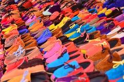 Sapatas coloridas Fotos de Stock Royalty Free
