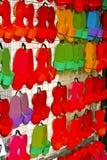 Sapatas coloridas da sandália Imagens de Stock Royalty Free