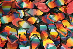 Sapatas coloridas do slip-on Fotos de Stock Royalty Free