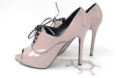 Sapatas cor-de-rosa Imagem de Stock Royalty Free