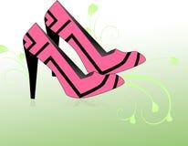 Sapatas cor-de-rosa Fotografia de Stock