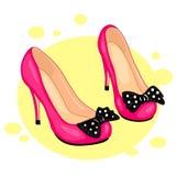 Sapatas cor-de-rosa Foto de Stock Royalty Free