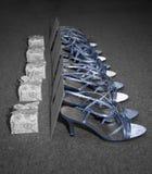 Sapatas da dama de honra Foto de Stock