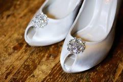 Sapatas da noiva Imagem de Stock Royalty Free