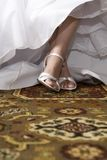 Sapatas da noiva Fotos de Stock