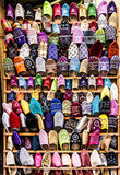 Sapatas das cores Fotografia de Stock