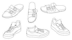 Sapatas das sandálias Fotos de Stock Royalty Free