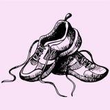 Sapatas das sapatilhas do esporte Fotografia de Stock Royalty Free