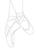 Sapatas de bailado ilustração do vetor