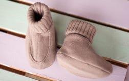 Sapatas de bebê Foto de Stock