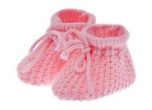 Sapatas de bebê cor-de-rosa Fotos de Stock Royalty Free