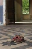 Sapatas vermelhas velhas Fotografia de Stock Royalty Free
