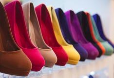 Sapatas de couro coloridas Foto de Stock Royalty Free