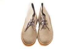 Sapatas de couro da camurça da mulher Fotografia de Stock Royalty Free