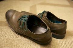 Sapatas de couro de Brown, genéricas Foto de Stock Royalty Free