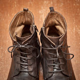Sapatas de couro luxuosas foto de stock