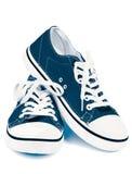 Sapatas de ginástica azuis Imagem de Stock