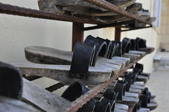 Sapatas de madeira Imagem de Stock Royalty Free