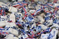Sapatas de madeira da lembrança holandesa da porcelana Imagens de Stock Royalty Free