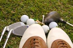 Sapatas do golfe Fotos de Stock Royalty Free
