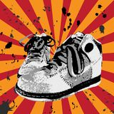Sapatas do Grunge imagem de stock royalty free