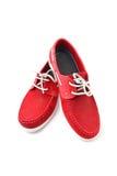 Sapatas do homem vermelho Imagens de Stock Royalty Free
