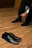 Sapatas do noivo Imagem de Stock Royalty Free