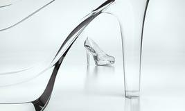 Sapatas do vidro Imagens de Stock