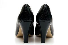 Sapatas fêmeas elegantes Fotografia de Stock Royalty Free
