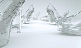 Sapatas feitas do vidro Imagens de Stock Royalty Free