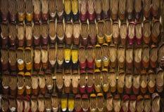 Sapatas feitos a mão do bordado de Jutti foto de stock royalty free
