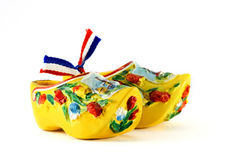 Sapatas holandesas amarelas Fotos de Stock Royalty Free