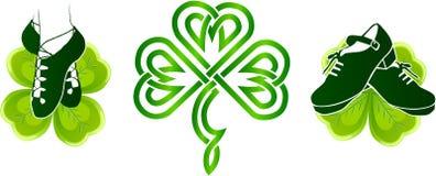 Sapatas macias e duras da dança irlandesa ilustração royalty free