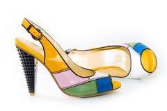 Sapatas Multi-color. imagem de stock