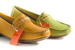 Sapatas Multi-color. imagens de stock royalty free