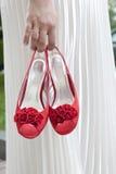 Sapatas nupciais elegantes do casamento imagem de stock