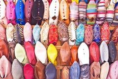 Sapatas orientais de Marrocos Fotografia de Stock Royalty Free