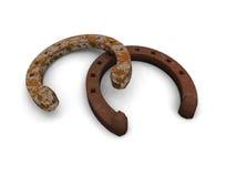 Sapatas oxidadas do cavalo Fotos de Stock Royalty Free