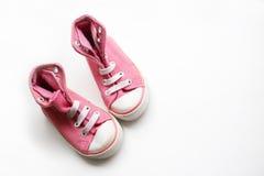 Sapatas pequenas do bebê foto de stock royalty free