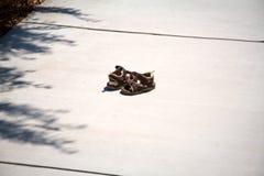 Sapatas perdidas da criança Fotos de Stock