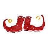 sapatas retros do duende do Natal dos desenhos animados Imagens de Stock Royalty Free