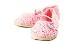 Sapatas românticas cor-de-rosa Imagem de Stock Royalty Free