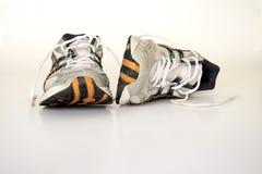 Sapatas running velhas Foto de Stock Royalty Free