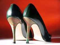 Sapatas sensuais italianas Imagem de Stock