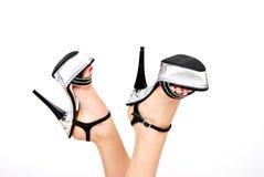Sapatas 'sexy' da plataforma foto de stock